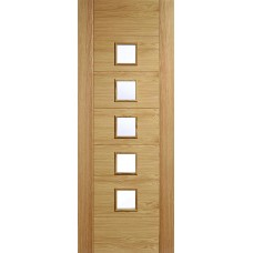 Oak Carini 5 Light Clear Glazed Door