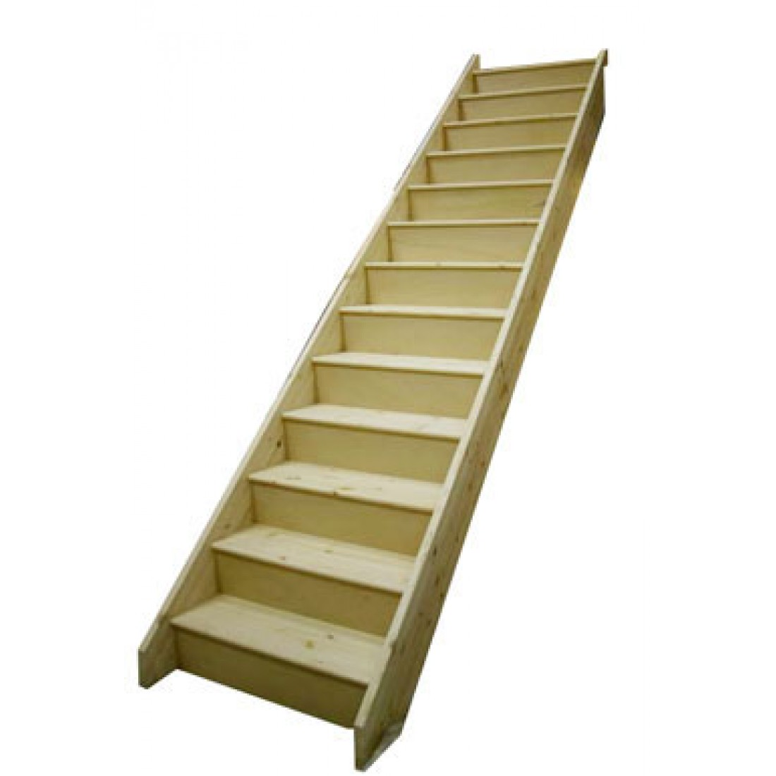 Timber Staircase Price: Straight Flight Whitewood Staircase 855mm