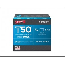 Arrow Staples T50 8mm 1250 Pk
